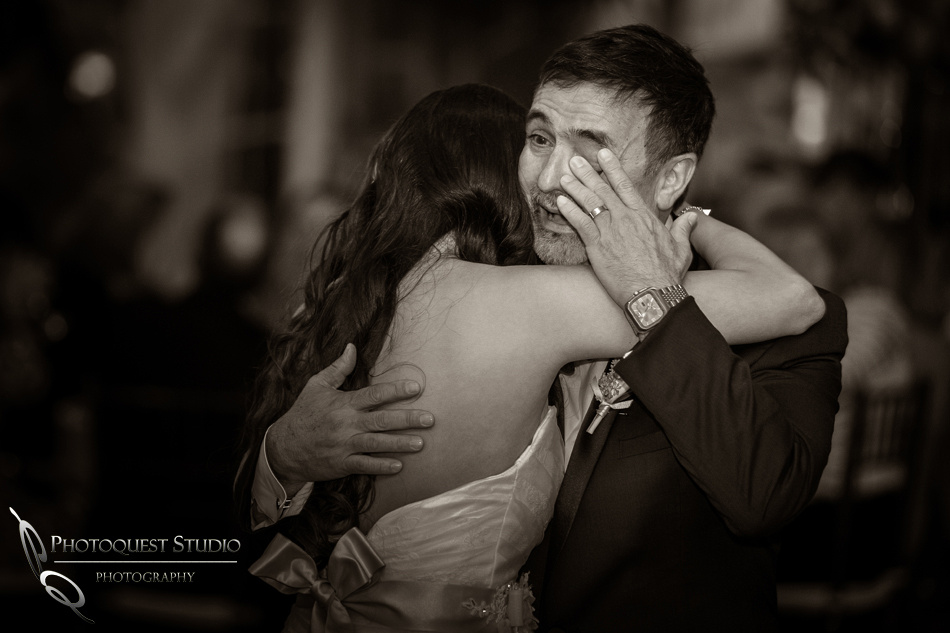 Father crying dance with daughter