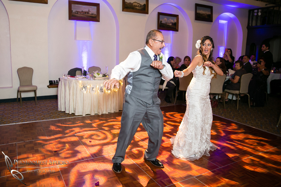 Father and Daughter dance at Mission Inn Hotel Wedding
