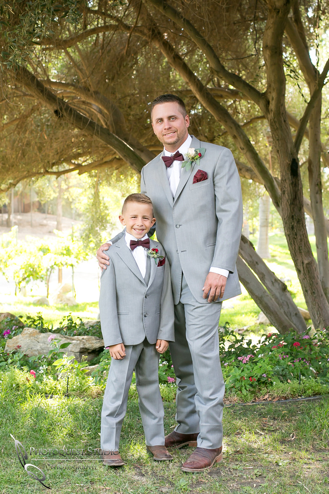 Father and Son, The Groom and his ring boy