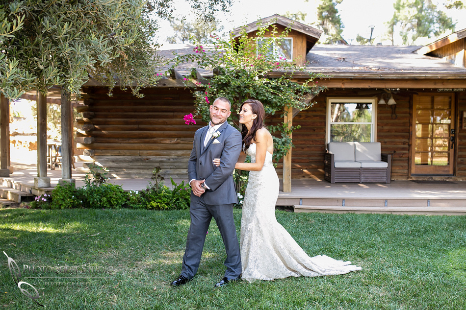 First look Wedding photo at Lake Oak Meadows, Temecula Winery by Photographer of Photoquest Studio