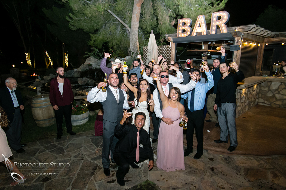 Wedding photo at Lake Oak Meadows, Temecula Winery by Photographer of Photoquest Studio