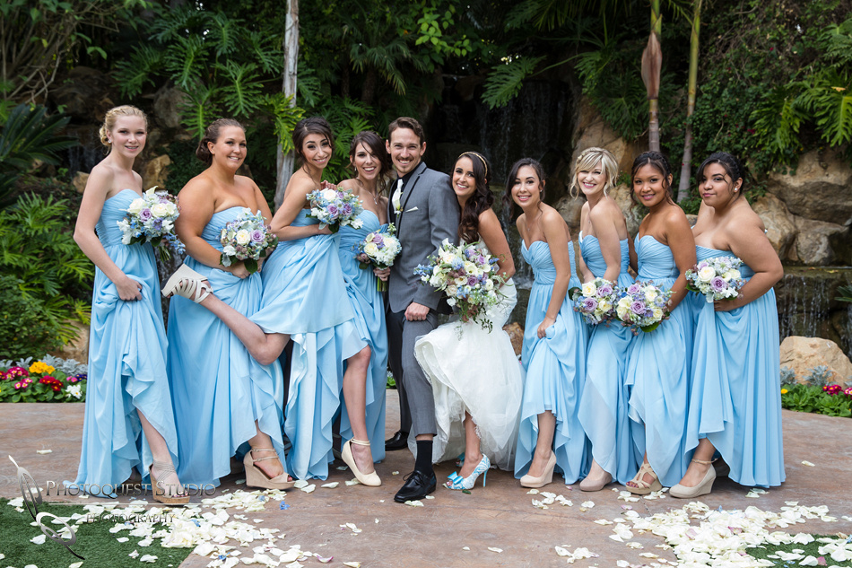The wedding party. Wedding photos at Grand Tradition Estate Fallbrook by Wedding Photographer in Temecula