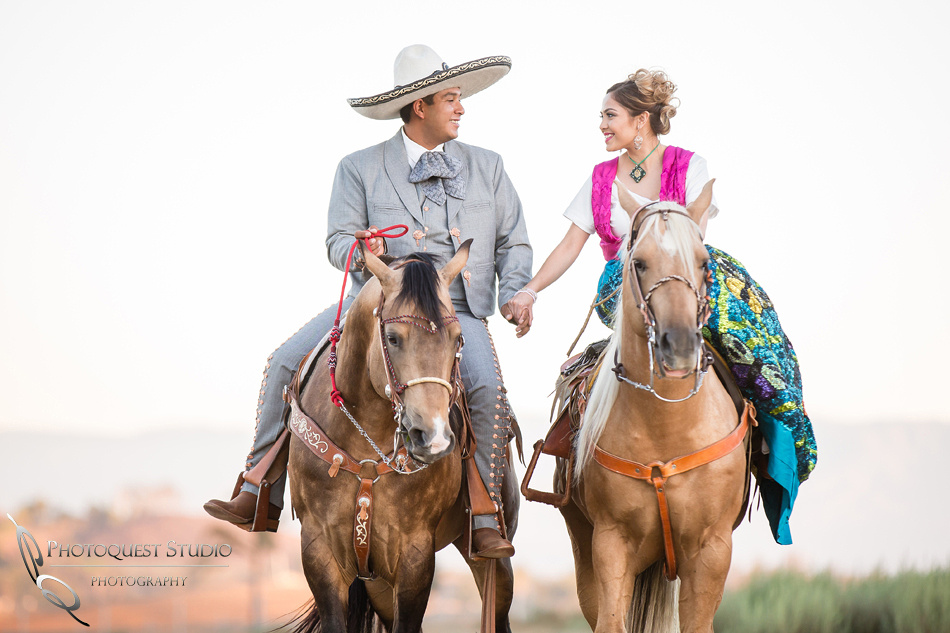 Temecula wedding photographer, engagement with horses