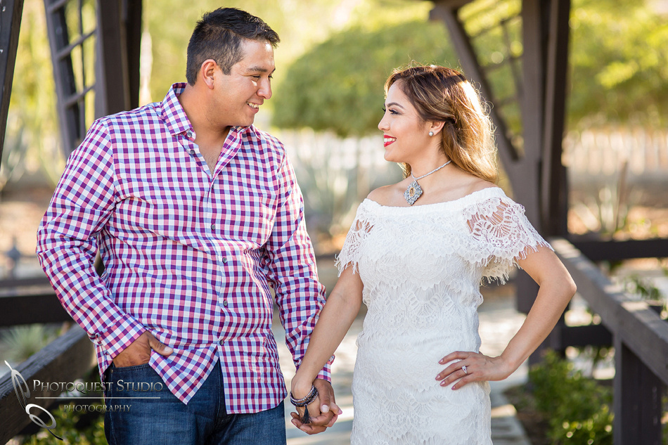 Engagement Photo by Menifee, Temecula, Fallbrook Wedding Photographer at Rancho R Los Agaves, Alfi and Angel