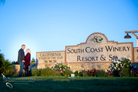 Engagement photo at South Coast Winery, California by Temecula Wedding Photography