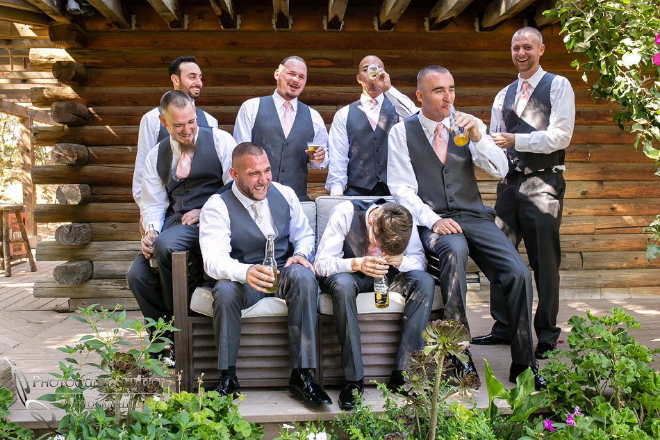 Groomsmen have a good time at Temecula Winery by Photographer of Photoquest Studio