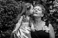 Kissing Grandma at Grand Tradition Estate, Happy Mother Day by Wedding Photograher in Temecula