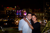 San Diego Convention Center, Gaslamp District Engagement Photo - Synthia & Mike