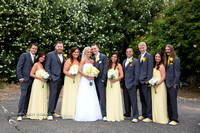 Bridal party at the Orchard, Wedgewood Wedding in Menifee by Temecula Wedding Photographer
