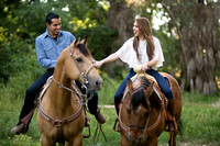 Fairmount Park, Mission Inn, Riverside Downtown, California Engagement Photo with Horses by Temecula Wedding Photographer