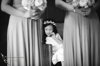 Flower girl at Chappel of Orange wedding