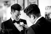 Groom getting ready, Chapel of Orange and Brodard Chateau Wedding - Uyen and Danny