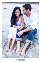 Oceanside engagement photo by temecula wedding photographer of photoquest studio photography at swami beach.
