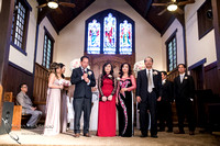 Parent thank you families and guests at Chapel of Orange wedding