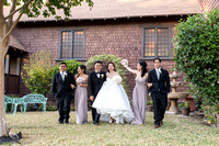 happy bridal party at Chapel of Orange
