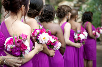 beautiful flowers and bridesmaids