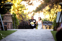 Bride enter wedding ceremony with her Father by-Wedding-Photographer-in-Temecula