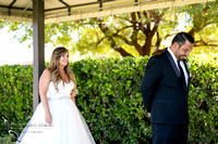 First look winery wedding by wedding photographer in temecula