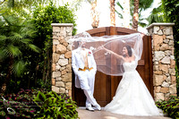 Bride flying wedding veil at Grand Tradition Estate Fallbrook by Temecula Wedding Photographer