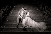 Bladk and White Wedding-photo-in-Fallbrook-Pala-Mesa-Resort-by-Temecula-wedding-photographer
