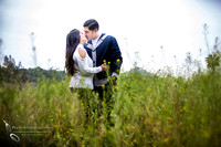 Flower Field Engagement photo by Temecula wedding photographer