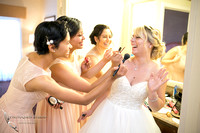 Bride makeup, Temecula wedding photographer at Wedgewood San Clemente, Orange County Wedding