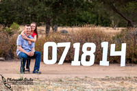 Fallbrook San Diego Outdoor Engagement Stone Garden Wedding Kristina and Cam
