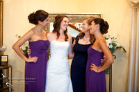 bride, bridesmaid and mom at Falkner winery wine wedding by temecula wedding photographer
