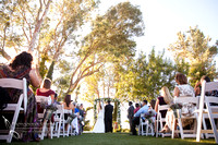 outdoor wedding ceremony at Falkner winery wine wedding by temecula wedding photographer