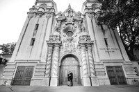 engagement photo at Balboa Park, San Diego documented by Temecula, San Diego Wedding Photographer