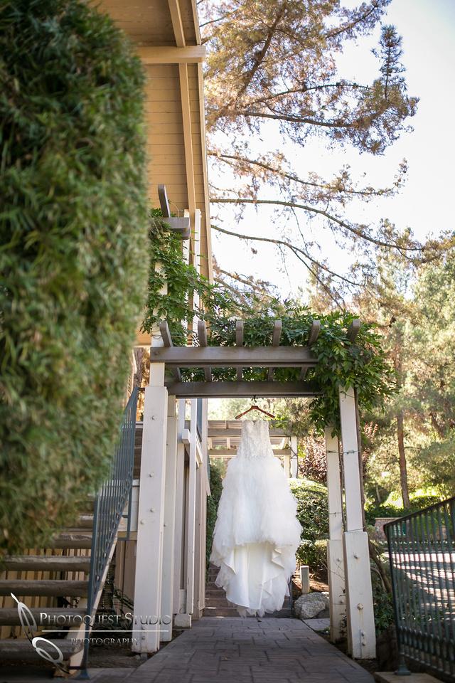 Wedding dress at Pala Mesa Resort Wedding by Fallbrook Wedding Photographer