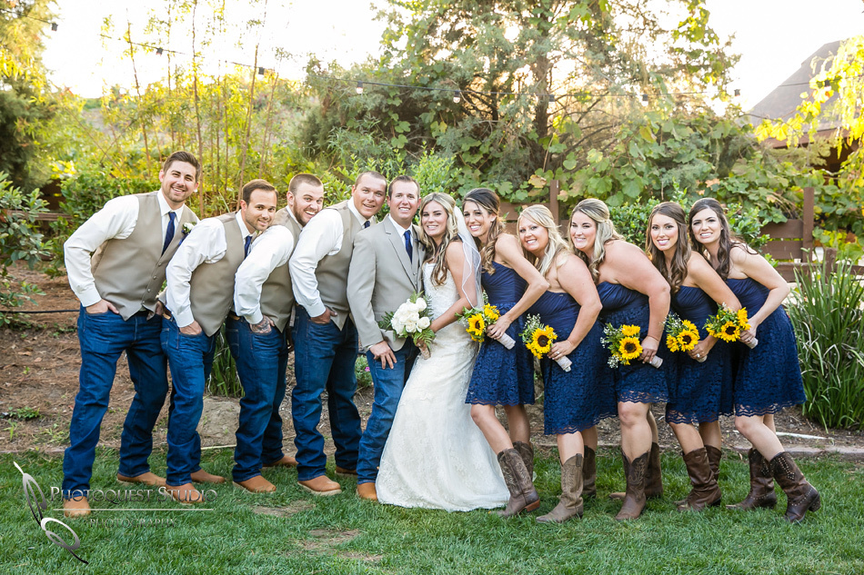 Wedding party at Longshadow Ranch Winery by Temecula Wedding Photographer