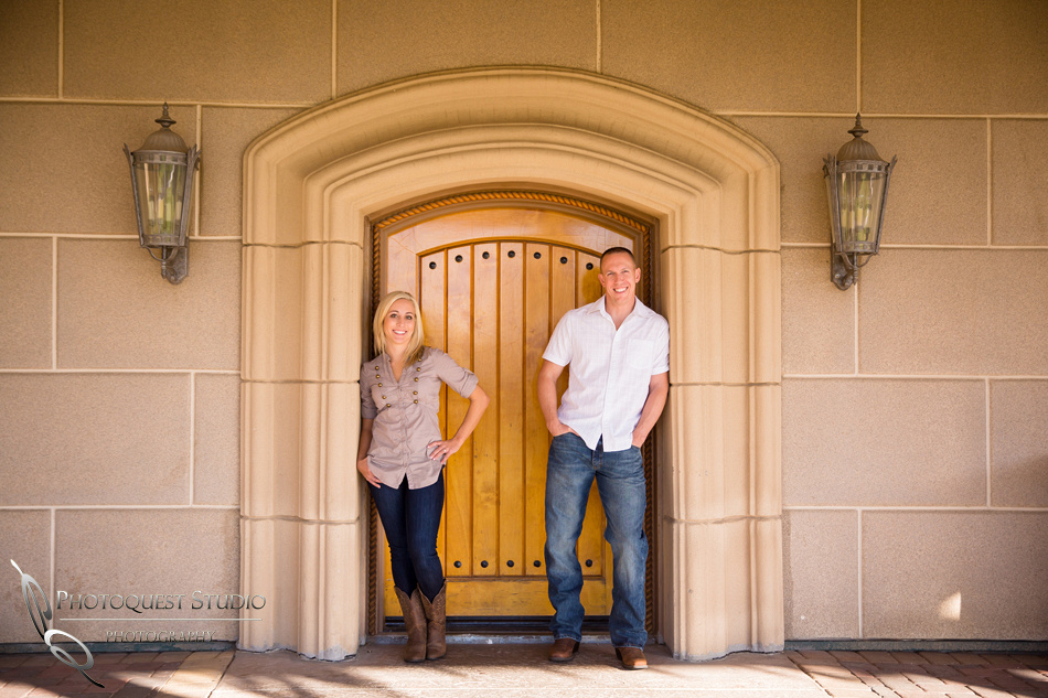 By your side at Engagement photo at South Coast Winery, California by Temecula Wedding Photographer