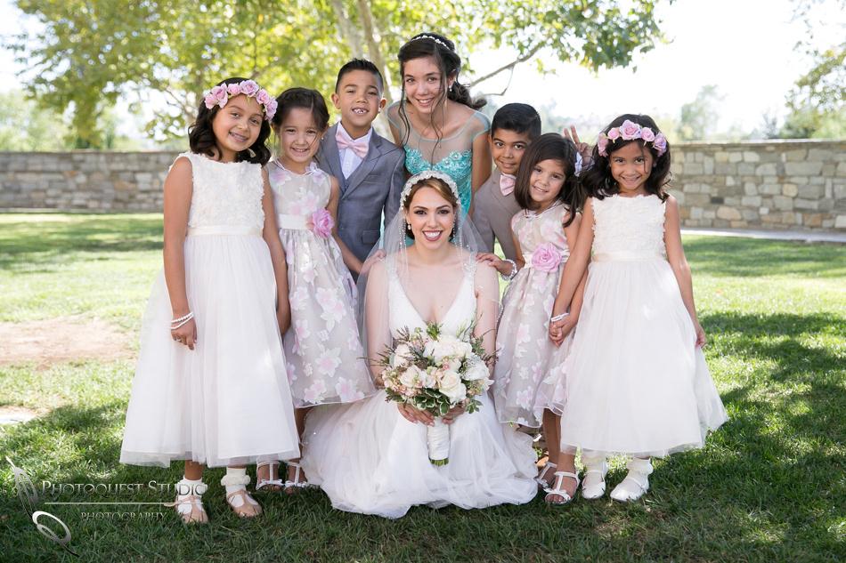 bride and kiss at wedding
