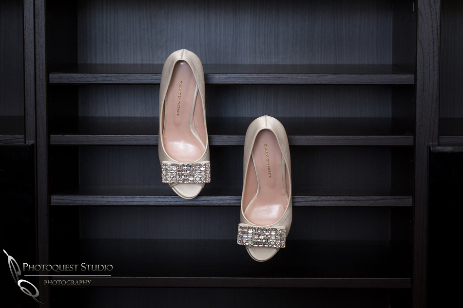 Bride shoes - Chapel of Orange and Brodard Chateau Wedding - Uyen and Danny