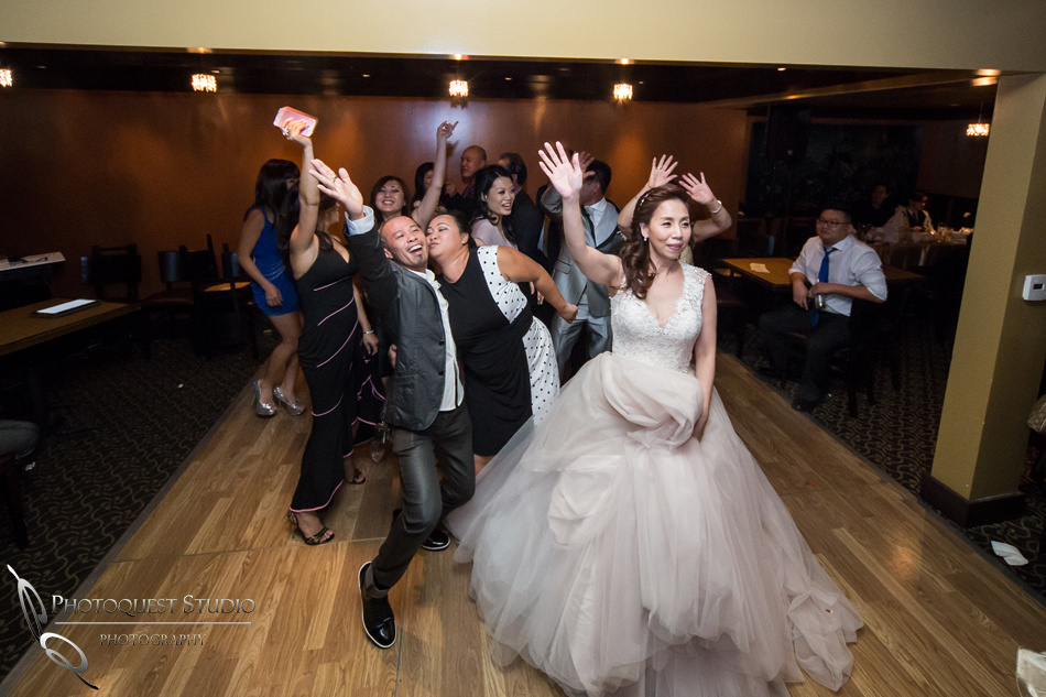 Tearing up the dance floor at Brodard Chateau Wedding