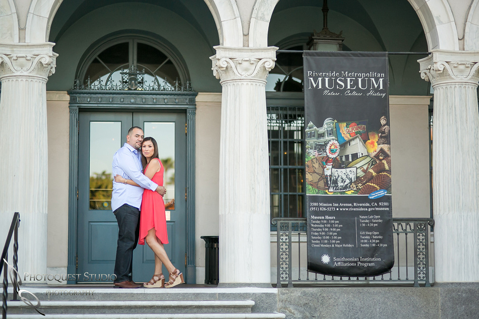 Engagement Photo at Mission Inn Museum