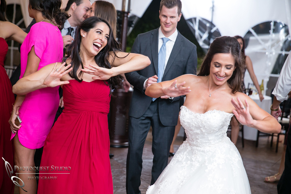 Bride and Bridesmaid rocking at Grand Tradition Estate Fallbrook by Temecula Wedding Photographer