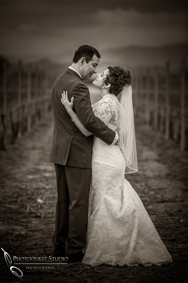 Romantic moment, Wedding at Ponte Winery by Temecula Photographer, Photoquest Studio