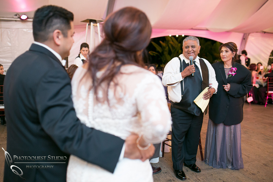 Parent speech at pala mesa resort wedding