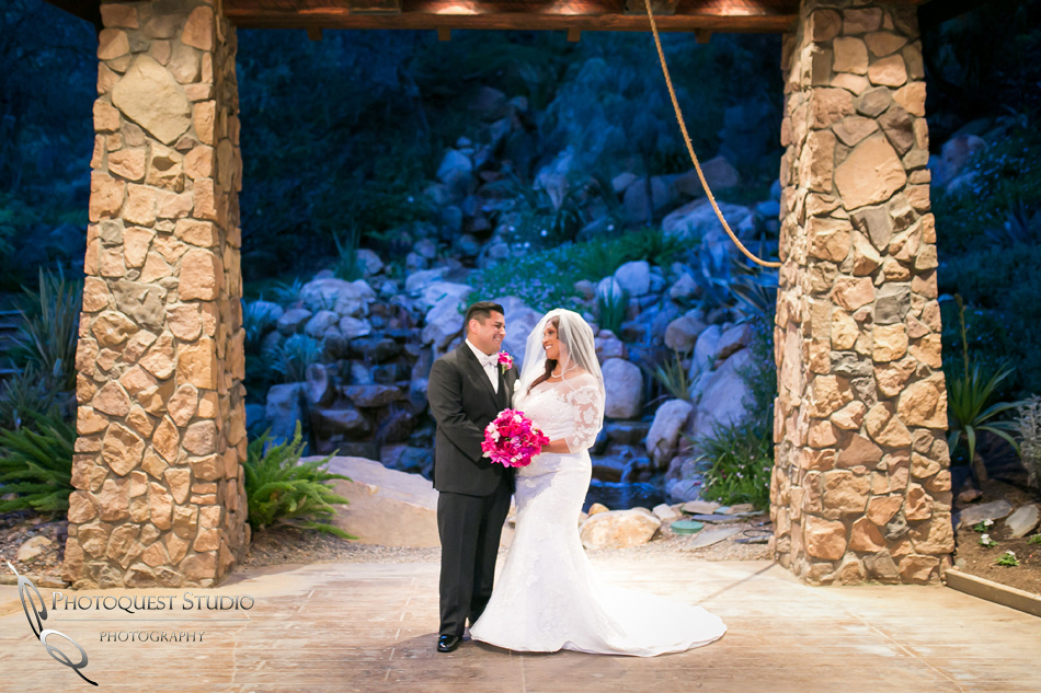 wedding couple at pala mesa resort, fallbrook wedding