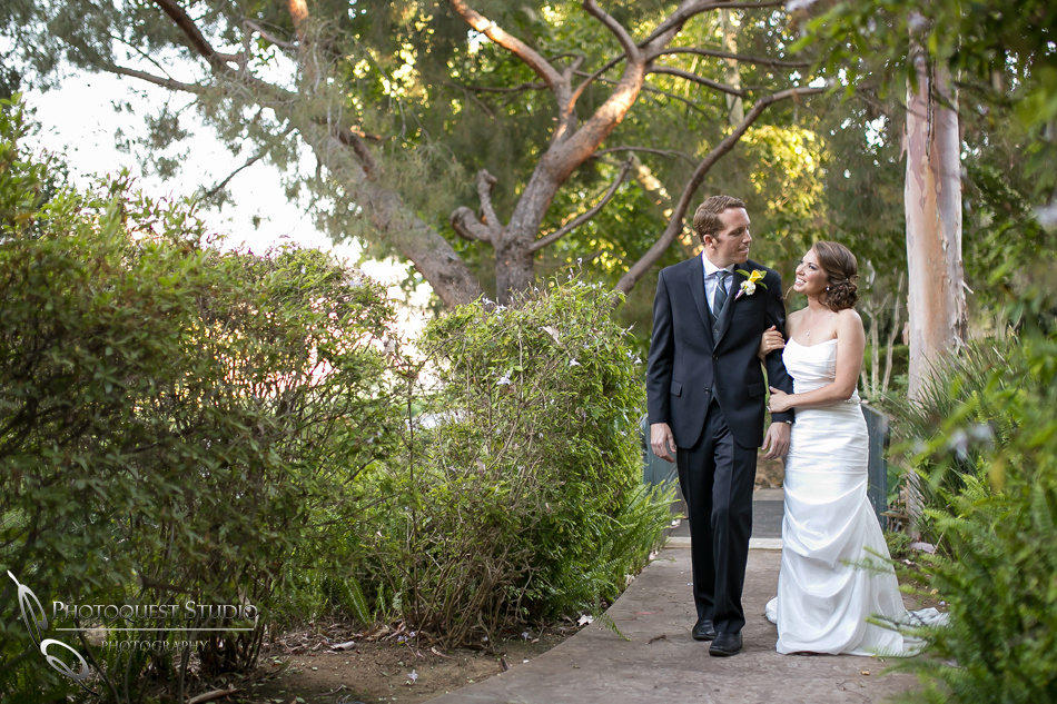 Bride and groom quiet walk on wedding day by-Wedding-Photographer-in-Temecula