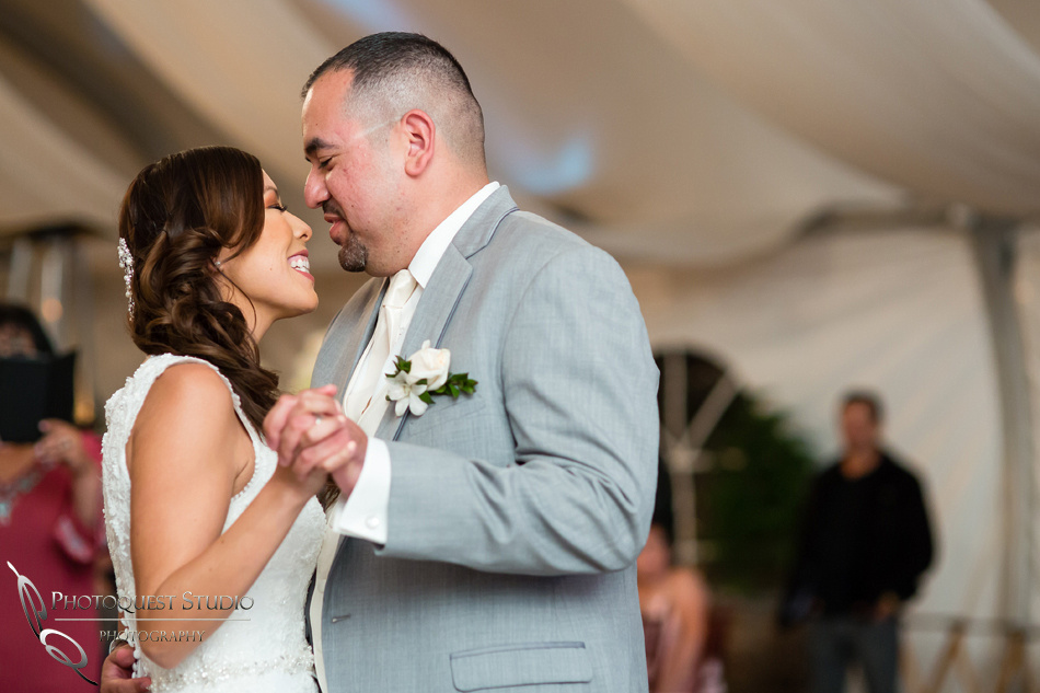 first dance at pala mesa resort wedding