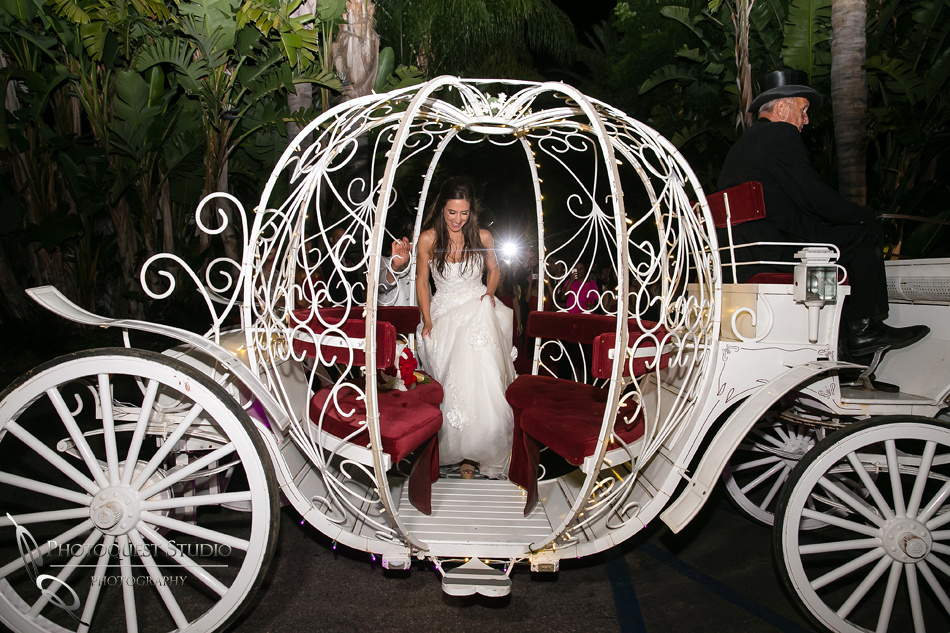 Horse carriage  for Disney Princess wedding theme in Fallbrook by Temecula Wedding Photographer
