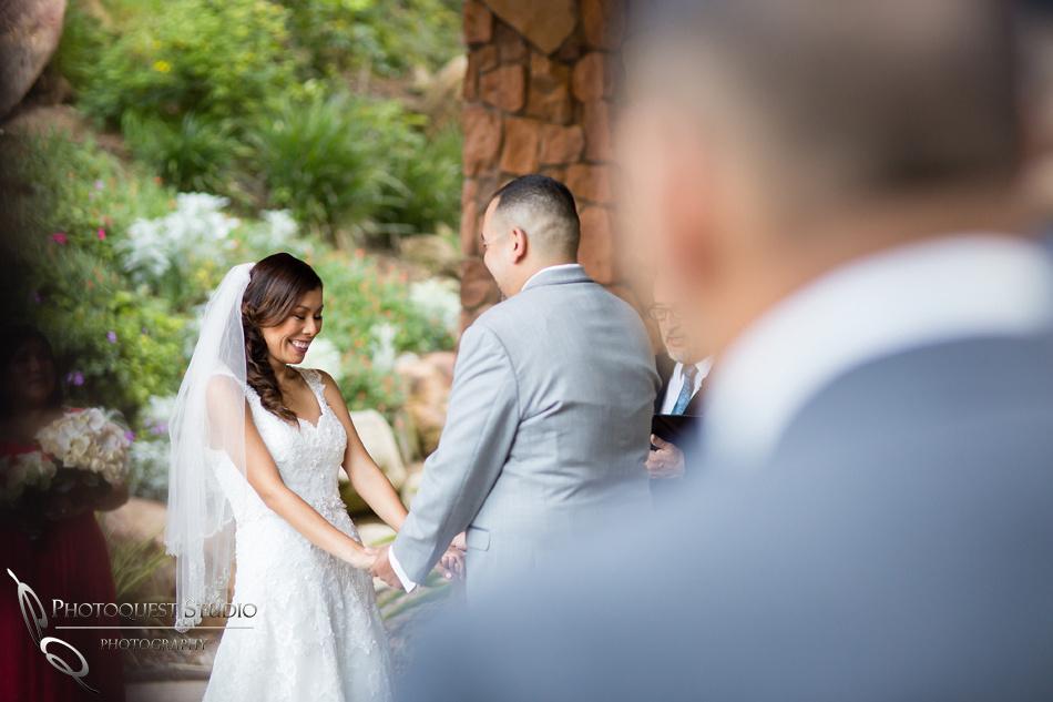 the happy and pretty bride