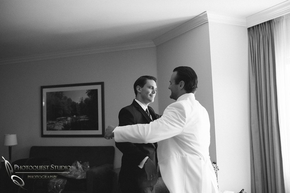 Brother love on the wedding day.