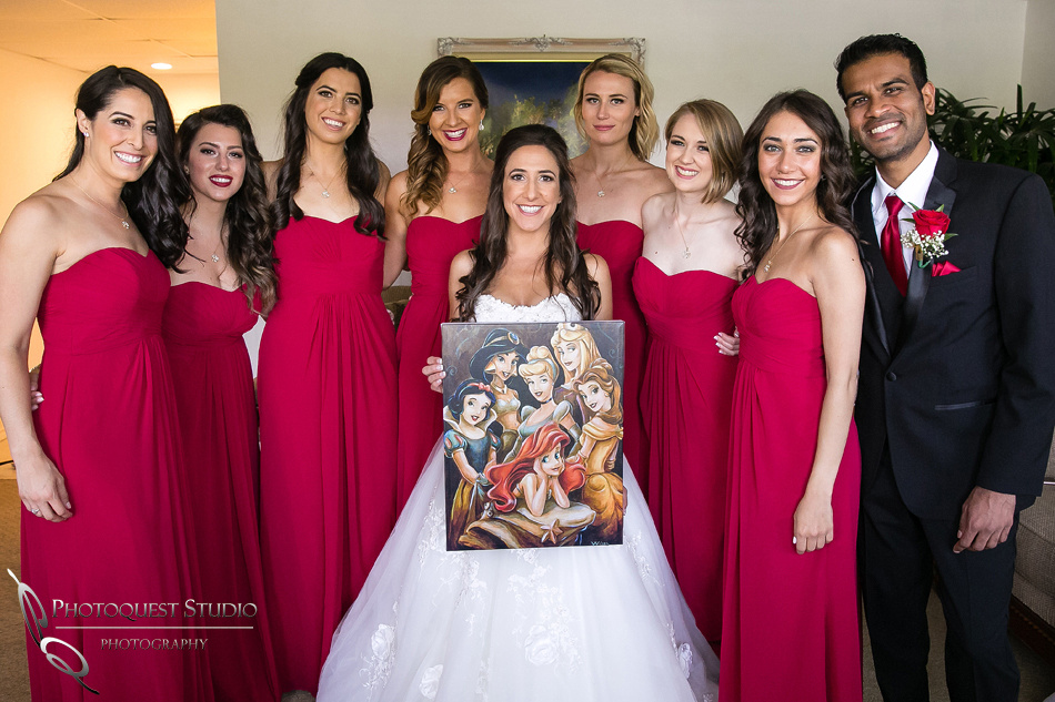 the bride and princesses