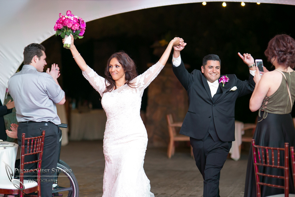 the grand entrance at fallbrook wedding