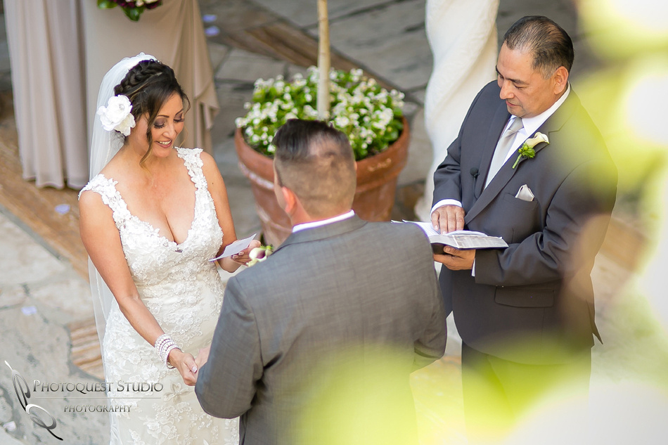 Bride reading her vow by Temecula Wedding Photographer
