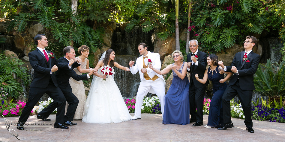 Family fun battle at Grand Tradition Estate Fallbrook wedding by Temecula Wedding Photographer